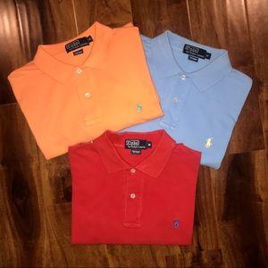 Bundle 3 - Polo by Ralph Lauren golf polo shirts M